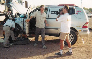 Gaël au Rallye du Maroc