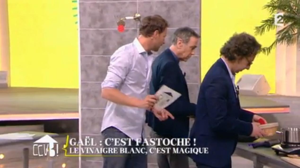 Gaël Pollès, Alain Chamfort et Stéphane Bern CCVB